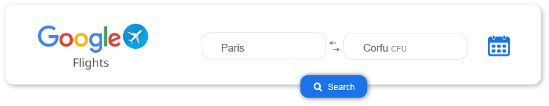 Banner that links to google flights