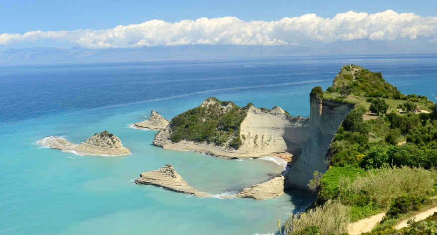 Photo of the island of Corfu